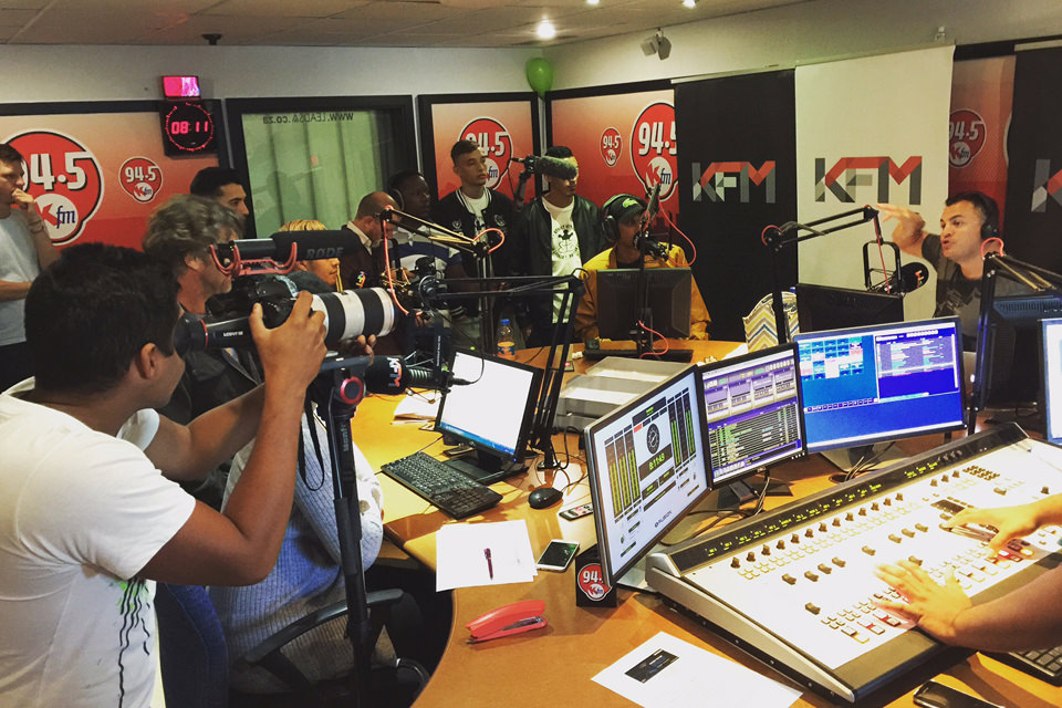 SA FILM Academy filming at KFM Studio
