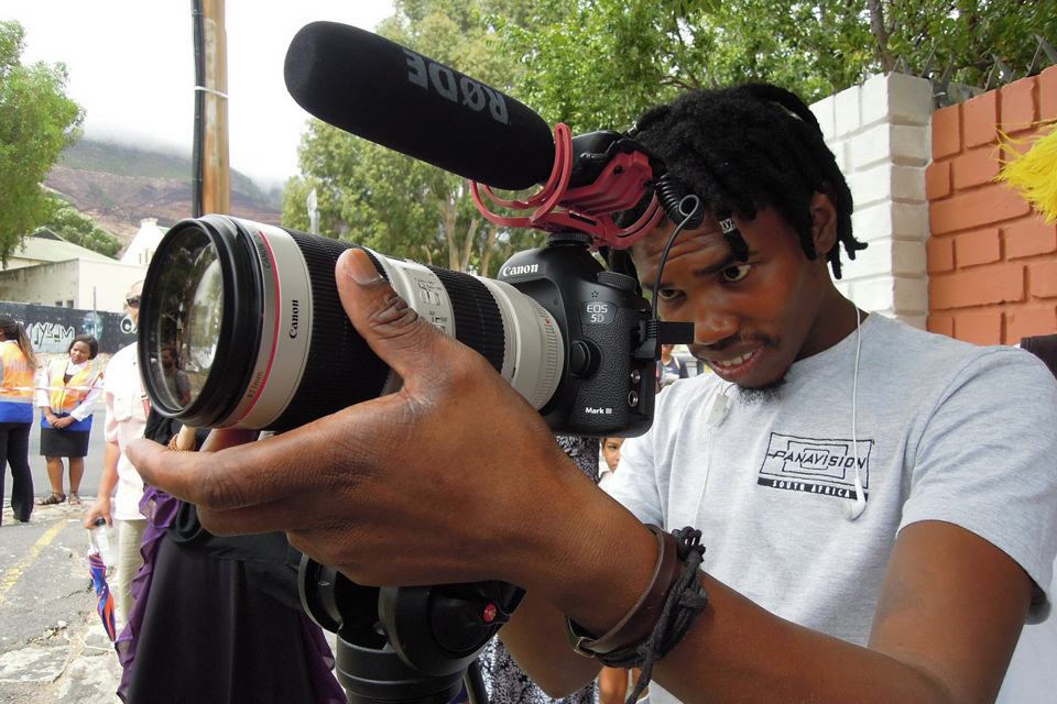 Ayanda - SA FILM Academy Interns filming